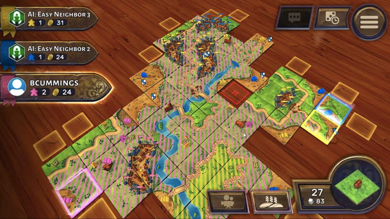 online board games - carcassonne