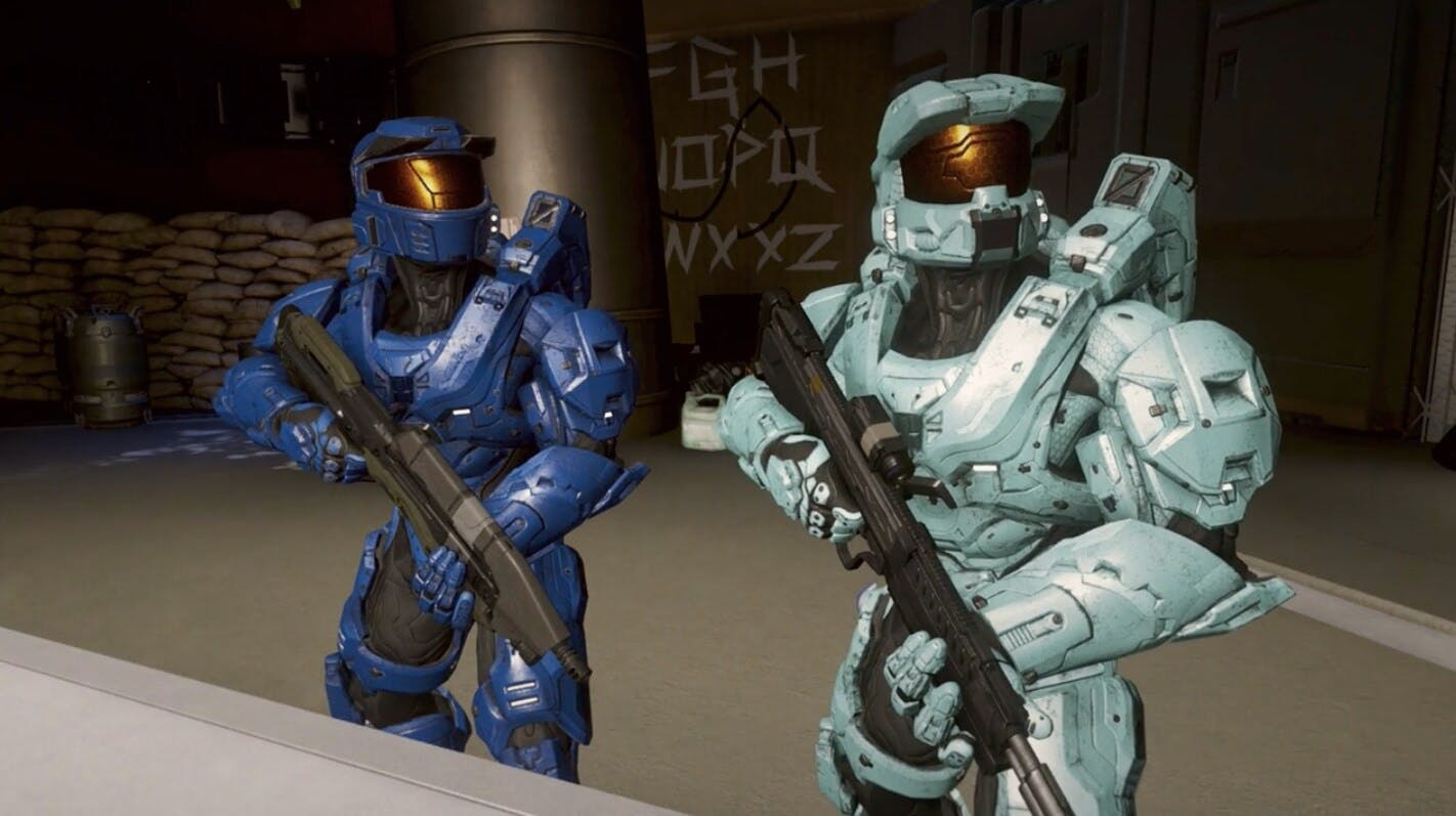 red vs blue characters