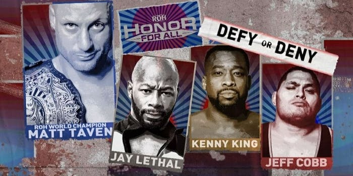 ROH Honor For All Fite TV Matt Taven Defy or Deny