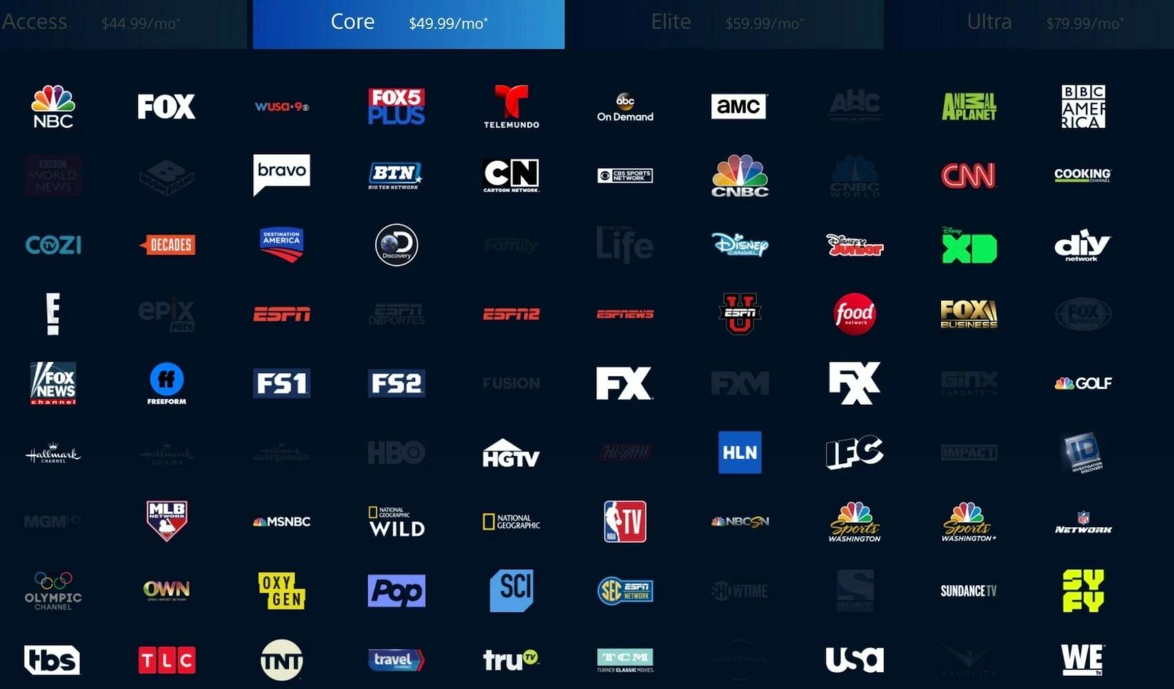 sec schedule live stream Playstation Vue