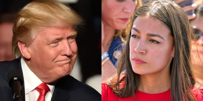trump and alexandria ocasio cortez