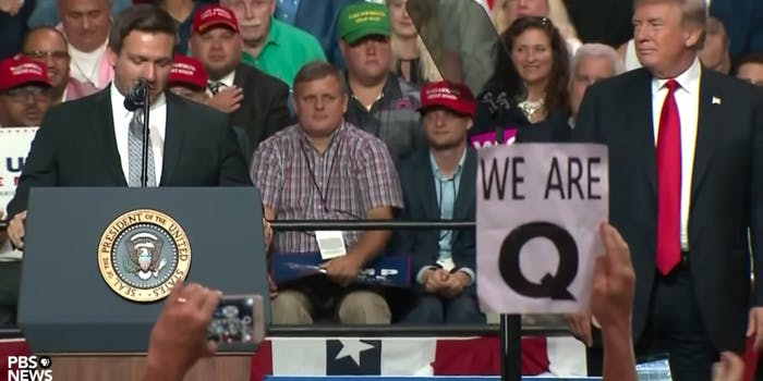 trump rally qanon