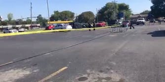 Screengrab from a video shows the scene where the shooting took place