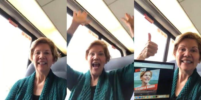 Elizabeth Warren Quiet Car Working Families Party Endorsement