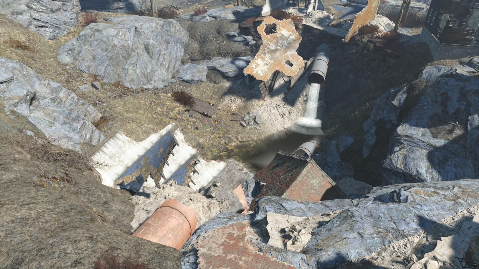 Old Gullet Sinkhole - Fallout 4 secrets