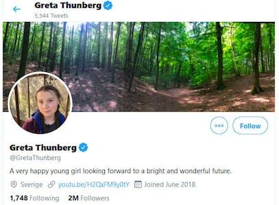 Greta Thunberg Twitter Bio Trump