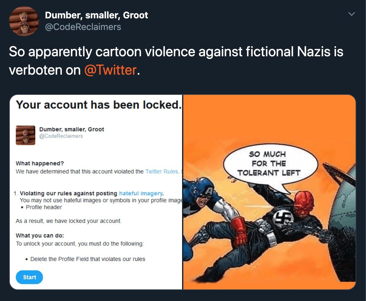 Captain America punches Nazi