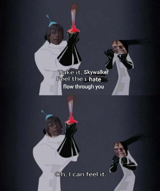 funny Star Wars memes - Emperor's New Groove