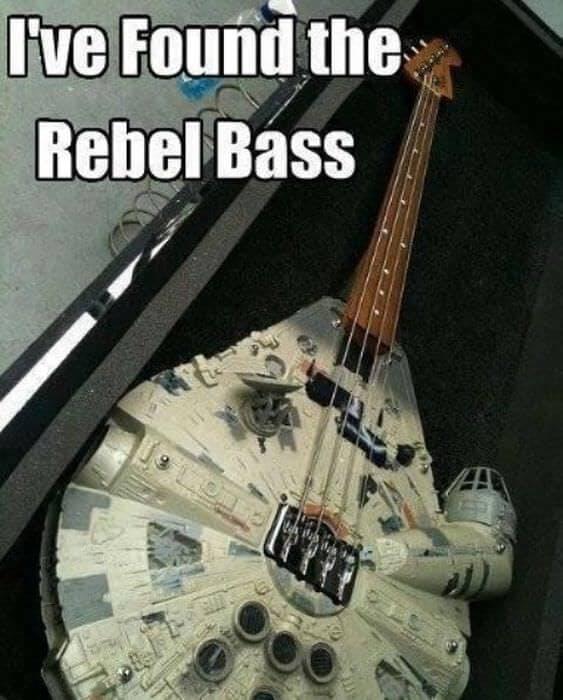 funny Star Wars memes - rebel bass