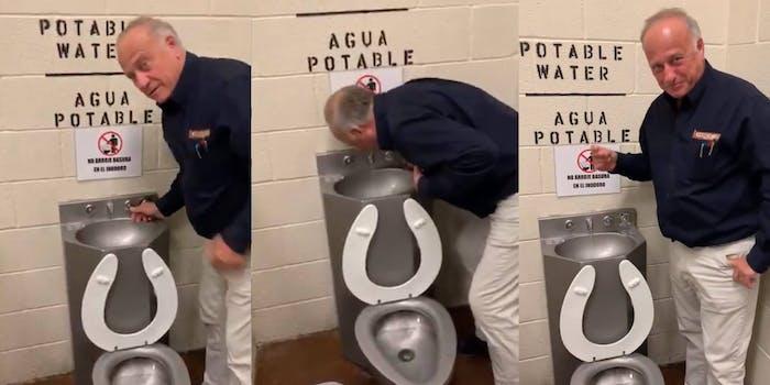 Steve King Toilet Fountain Video