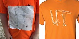 hand-drawn UT tshirt