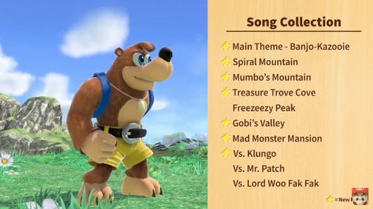 banjo kazooie songs super smash ultimate