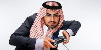 saudi prince bin salman as a gamer