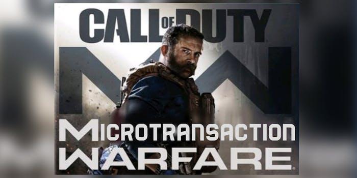 call of duty microtransaction warfare
