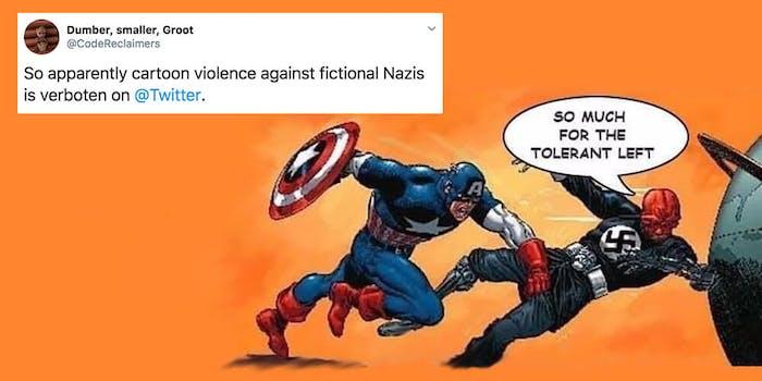 captain america nazi twitter