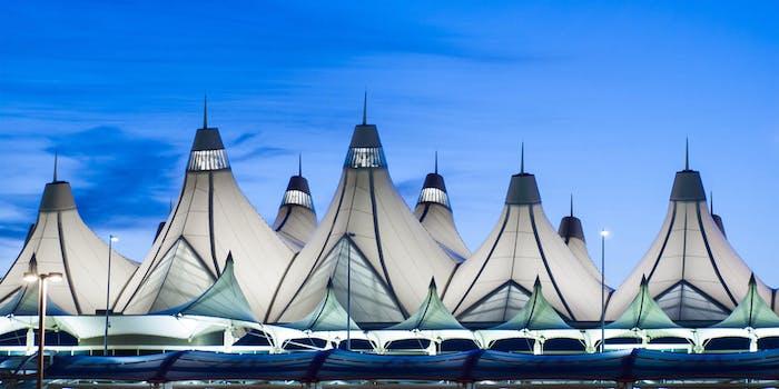 denver international airport tents