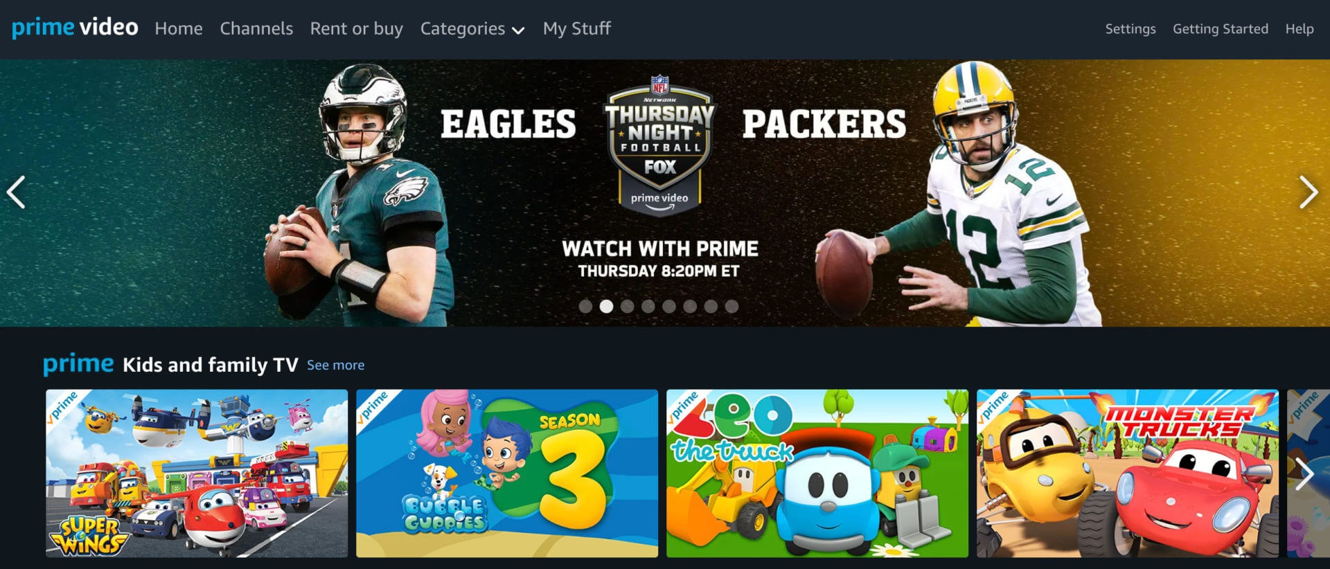 how-to-watch eagles vs packers live stream amazon prime video