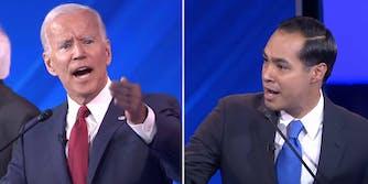 joe biden and julian castro clash at democratic debates