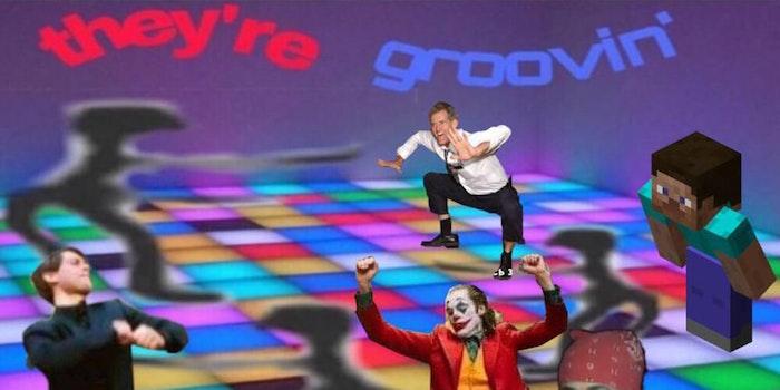 joker dancing meme