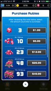 mario kart tour in-app purchases