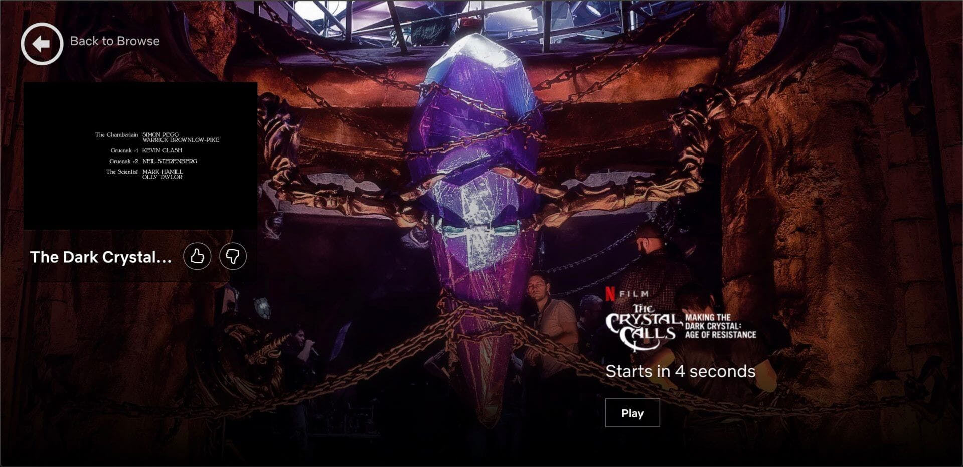 netflix the crystal calls loading page