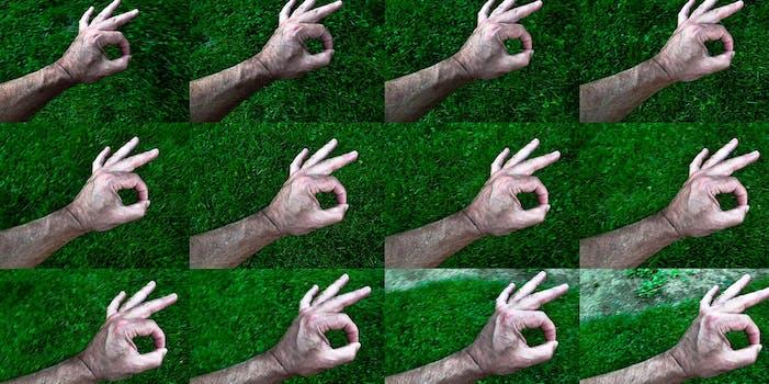 ok symbol hand making ok gesture