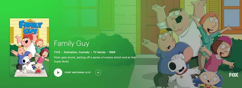 watch family guy season 18 on Hulu