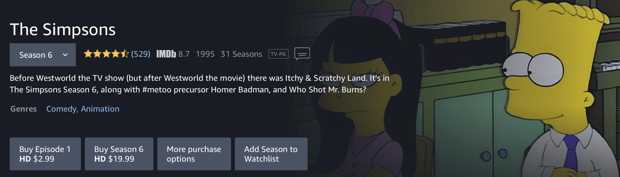 watch the simpsons season 31 on Amazon