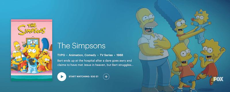 watch the simpsons season 31 on Hulu