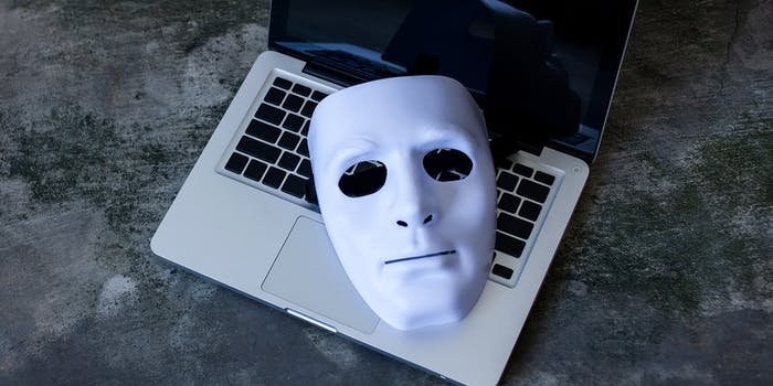 white mask on top of keyboard