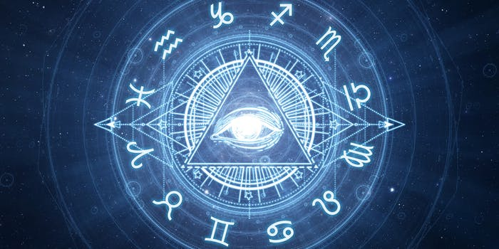 zodiac wheel eye of providence