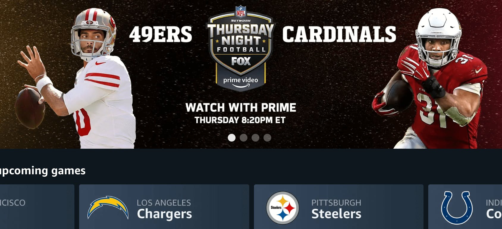 49ers cardinals amazon streaming nfl