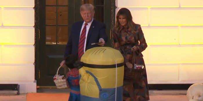 Donald Trump Halloween Candy Minion White House