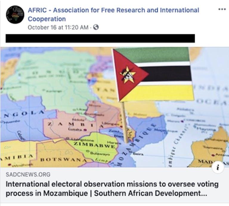 Facebook Africa Russia Accounts