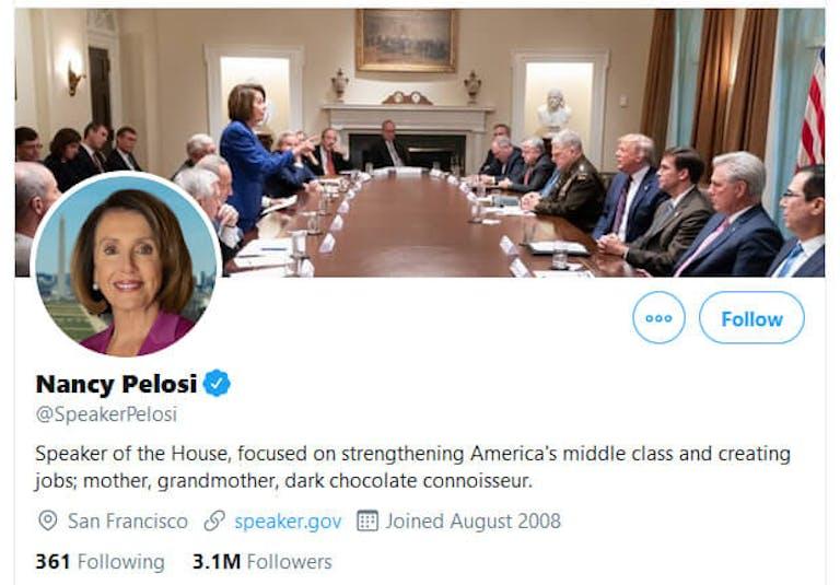 Nancy Pelosi Donald Trump Photo Twitter Header