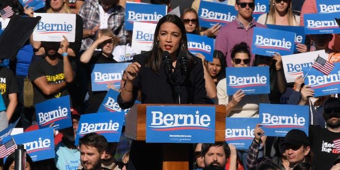 alexandria_ocasio_cortez speaks at bernie rally
