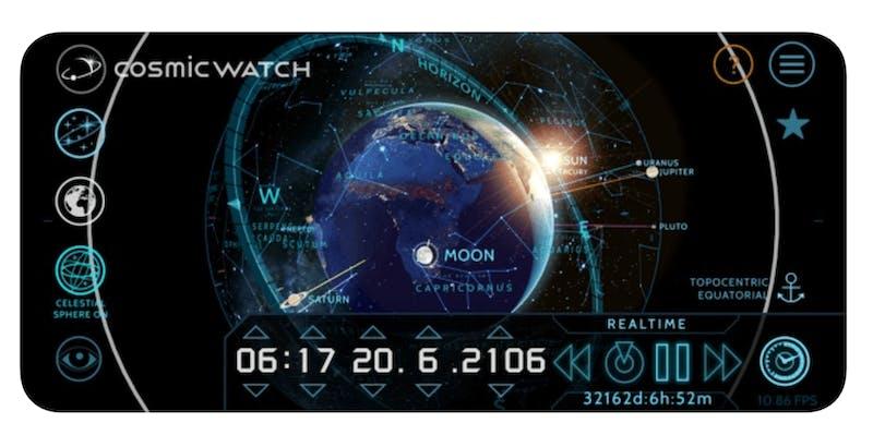 best astronomy apps - cosmic watch