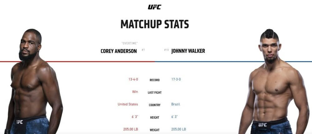 Corey Anderson vs Johnny Walker live stream UFC 244