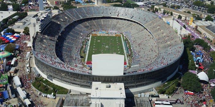 cotton bowl aerial view texas vs oklahoma live stream
