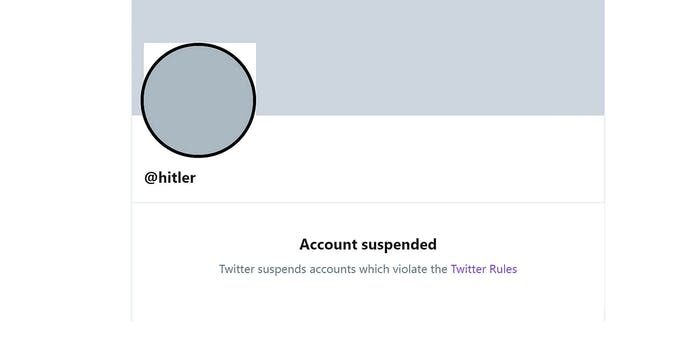 hitler banned from twitter