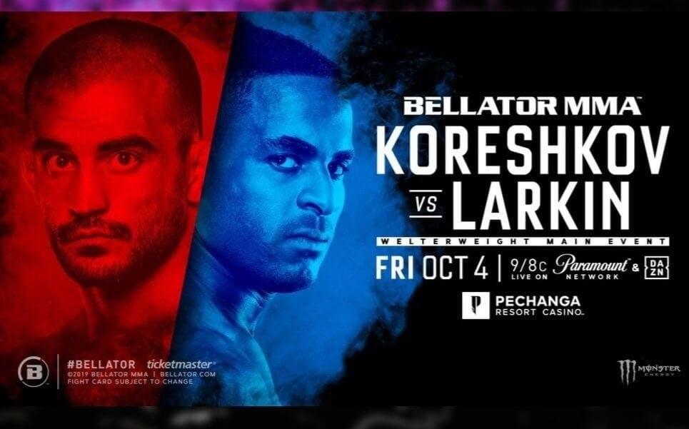 Koreshkov vs Larkin Bellator live stream