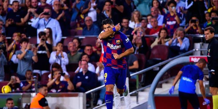luis suarez watch barcelona vs slavia praha live stream