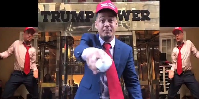Official DVS 7.0 Maga challenge rap in front of Trump Tower
