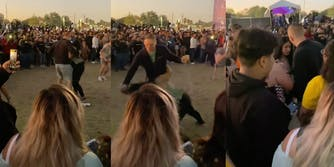 video of man dragging woman by hair mala luna festival