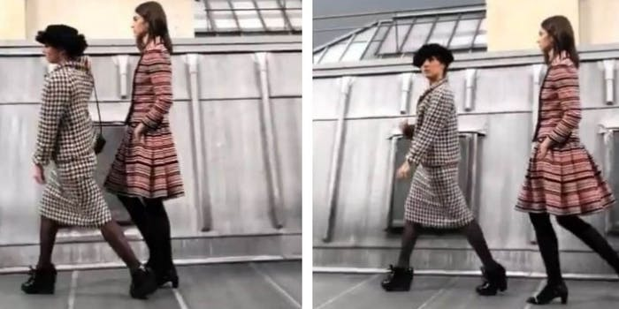 marie s'infiltre youtube chanel fashion show crash