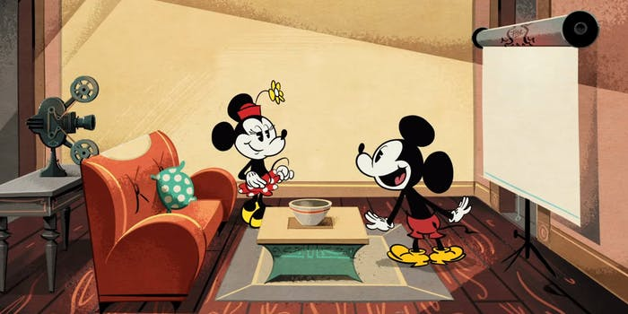 Mickey and Minnie ready for movie night