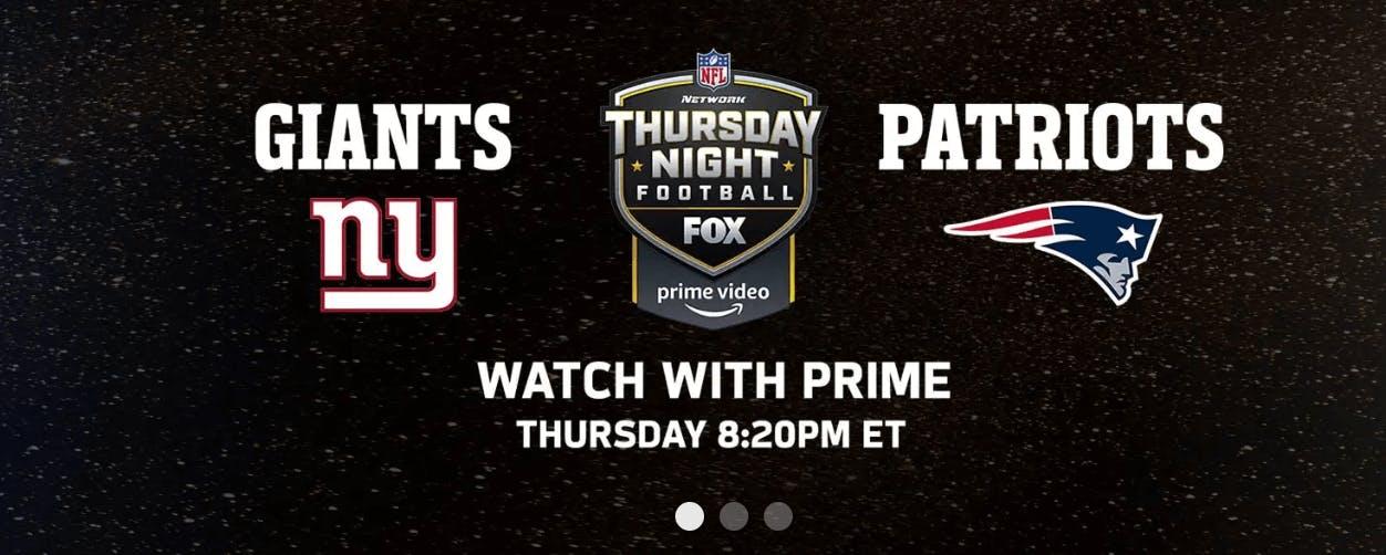 patriots giants amazon prime streaming nfl