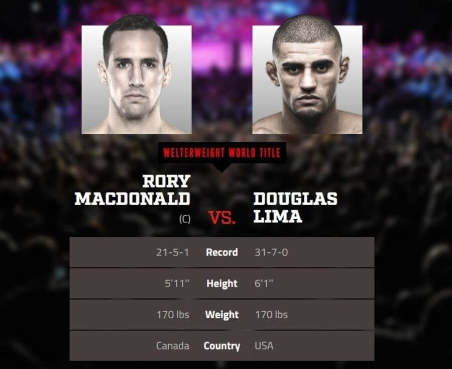 Rory MacDonald vs. Douglas Lima live stream DAZN