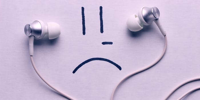 sad headphones