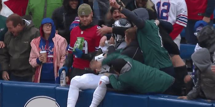 sanders eagles touchdown celebration stream eagles vs bears live